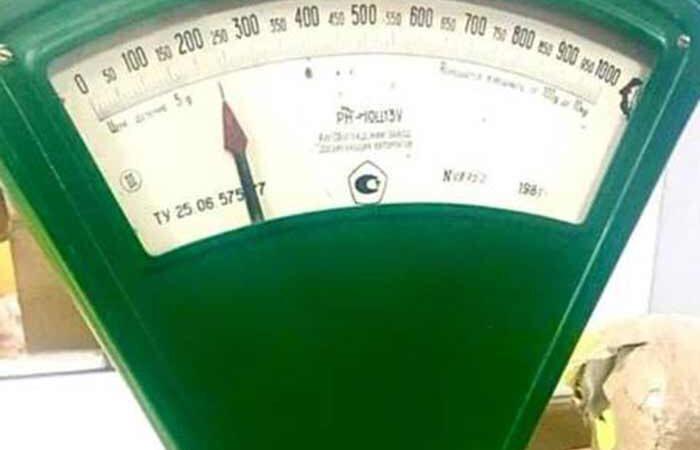 В Борисполе нашли советские весы с сюрпризом