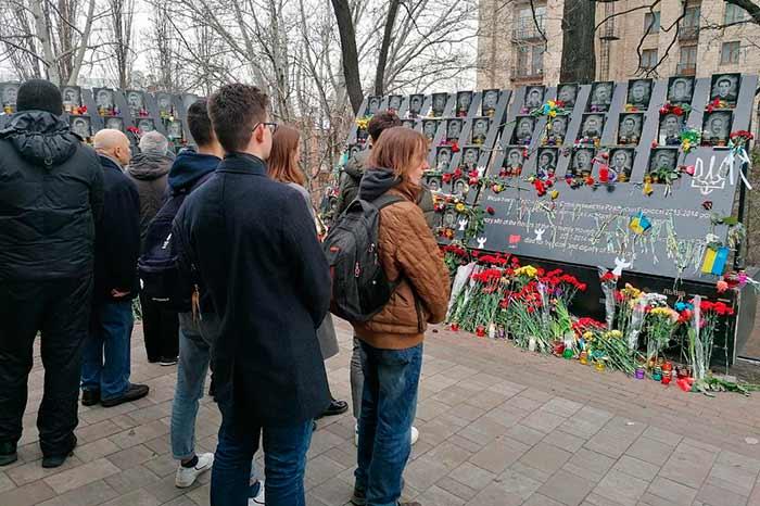 В столице почтили память убитых участников Революции Достоинства