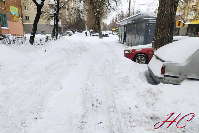 В Киеве выпало почти полметра снега