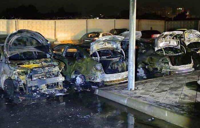 Женские разборки: полиция установила виновных в поджоге пяти машин под Киевом